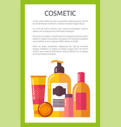 Cosmetic for skincare citrus set promo banner vector