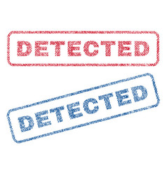 detected textile stamps vector image