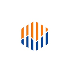 diagram line business finance logo vector image