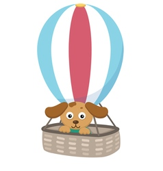 dog with balloon vector image