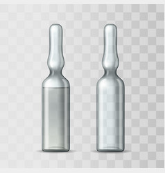 empty transparent glass ampule and ampule vector image