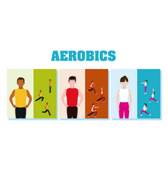 Fitness people and aerobics vector