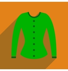 Flat icon with long shadow women cardigan vector