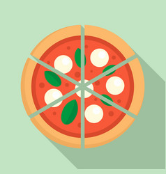 Four cheeses pizza icon flat style vector