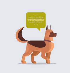 german shepherd icon cute dog with chat bubble vector image