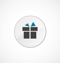 gift icon 2 colored vector image