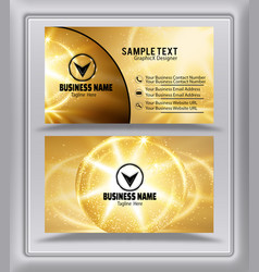 golden sun black color business card image vector image