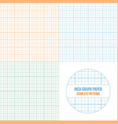 graph paper seamless patterns set vector image