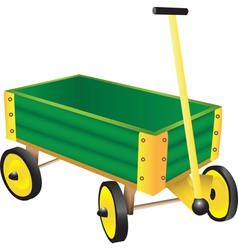 Green Toy Wagon vector