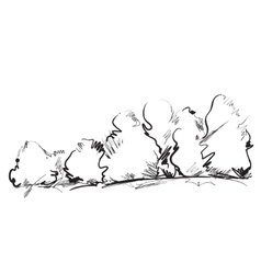 Hand drawn cartoon tree vector image