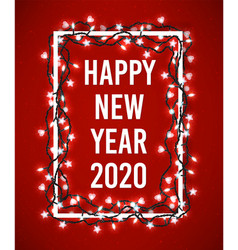 happy new year 2020 poster with christmas vector image