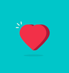 heart icon in flat cartoon vector image