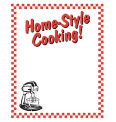 Home style cooking frame vector