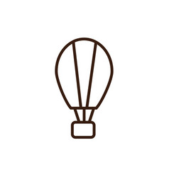 hot air balloon line and fill design vector image