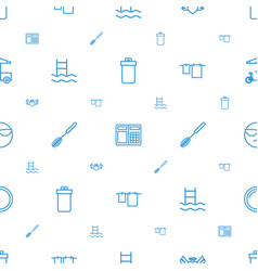 Icons pattern seamless white background vector