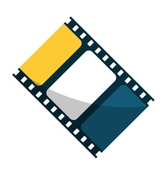 Isolated cinema film strip design vector