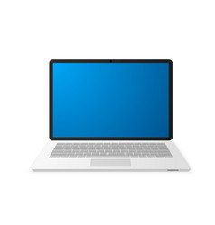 laptop with empty screen notebook icon vector image