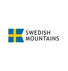 logotype template for tours to swedish mountains vector image