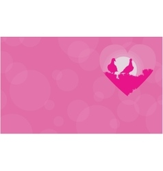 Love bird valentine day vector