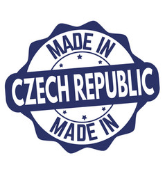made in czech republic sign or stamp vector image