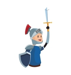 Medival knight icon vector