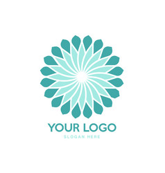 modern geometric flower logo design vector image