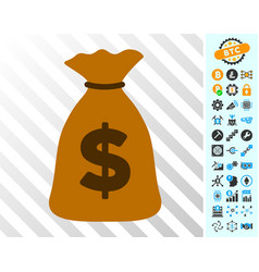 money bag cards with bonus vector image
