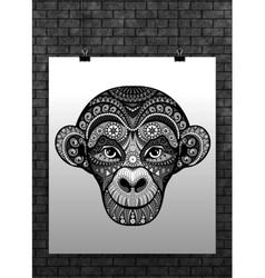 Monkey head avatar Chinese zodiac sign vector image
