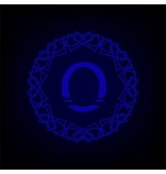 Monogram O vector