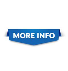 more info label modern web banner design vector image
