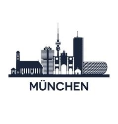 Munich Skyline Emblem vector image