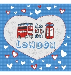 Postcard on the theme of London vector image