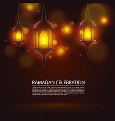 ramadan celebration art vector image