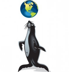 seal playing vector image