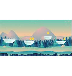 seamless cartoon nature winter landscape vector image