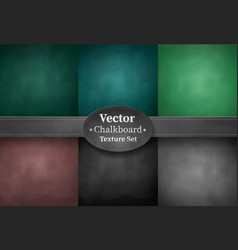 set of school chalkboard backgrounds vector image