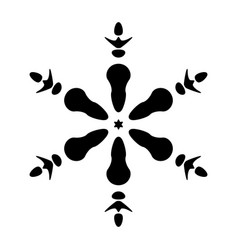 simple snowflake isolated vector image