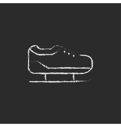 Skate icon drawn in chalk vector image