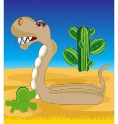 Snake in desert vector image