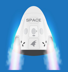 Spacex space craft crew dragon 2019 vector