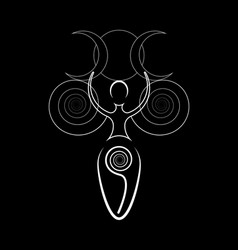 Spiral goddess fertility wiccan pagan symbols vector