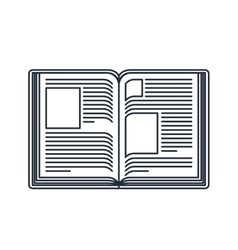 Text book open isolated icon design vector