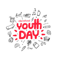 The youth day greeting card template vector
