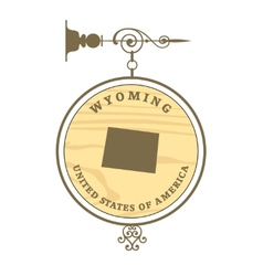 Vintage label Wyoming vector image