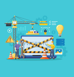 website under construction page vector image
