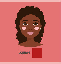 Woman face type character vector