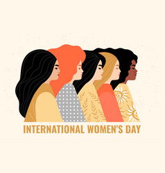 Women different nationalities vector