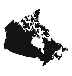 canada map icon simple style vector image