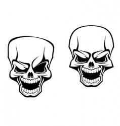 danger skull vector image vector image
