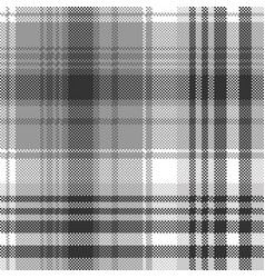 Gray black white pixel check plaid seamless vector